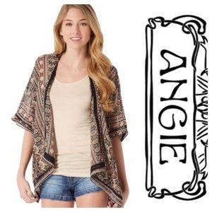 Tribal kimono cardigan by Angie. Size small